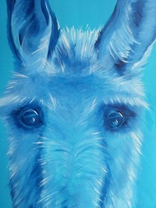 Detail - Douglas Donkey. Acrylic on canvas, approx 60cm x 72cm. Price: €120.